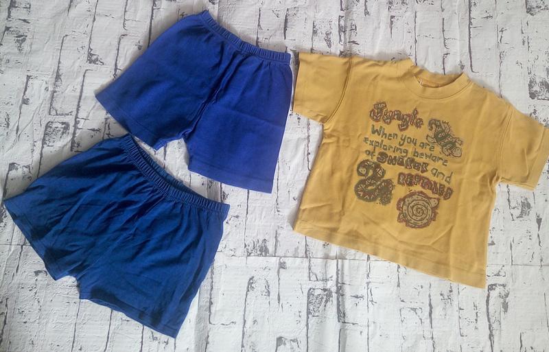 Комплект,футболка и шорты 2 шт.унисекс.1-2 года - Фото 2