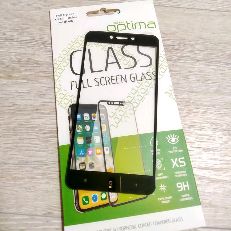 Xiaomi Redmi 4x защитное стекло full glue