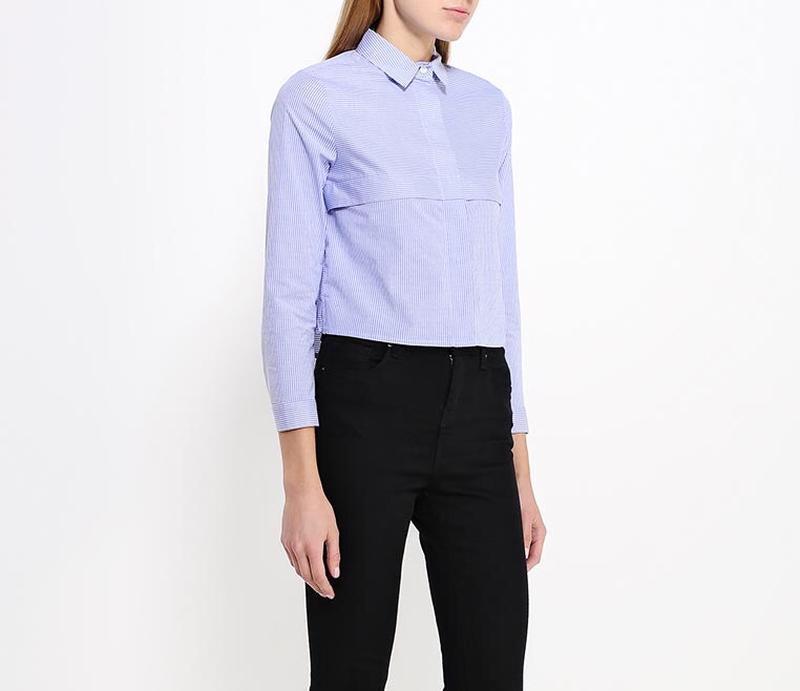 Шикарная укороченная рубашка topshop - Фото 3