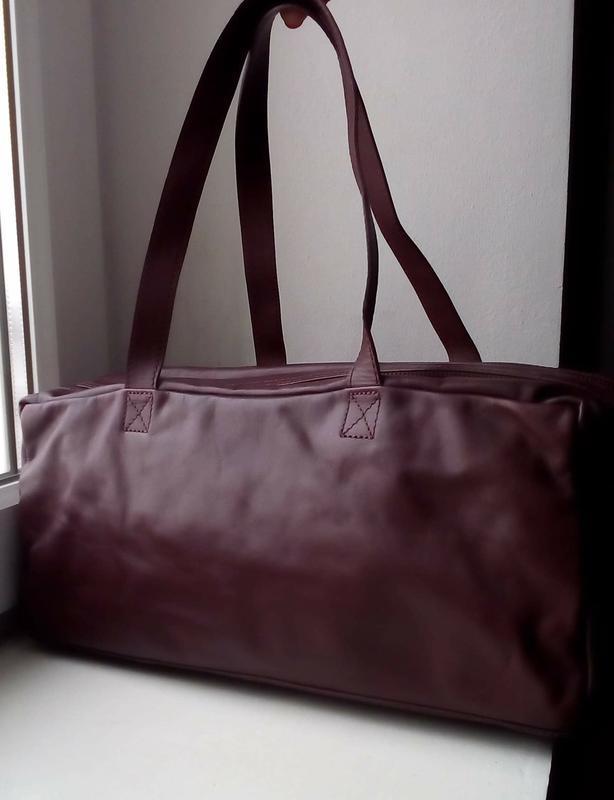 Вместительная кожаная сумка monsoon. новая - Фото 2