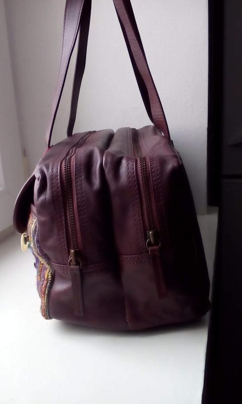Вместительная кожаная сумка monsoon. новая - Фото 3