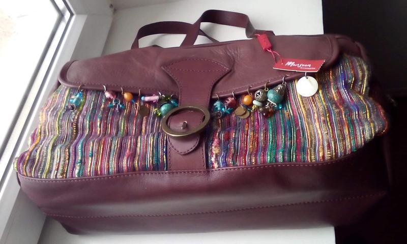 Вместительная кожаная сумка monsoon. новая - Фото 5