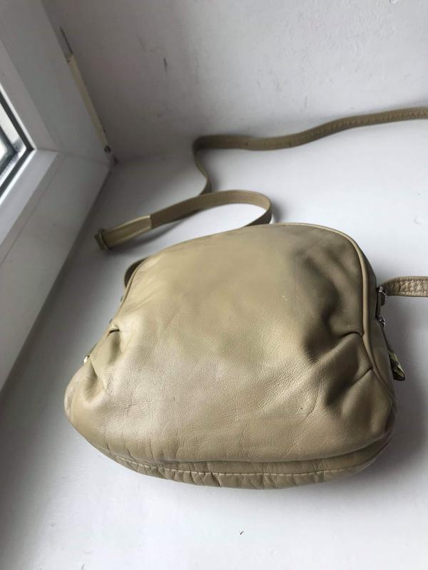 Кожаная сумка кроссбоди - Фото 2