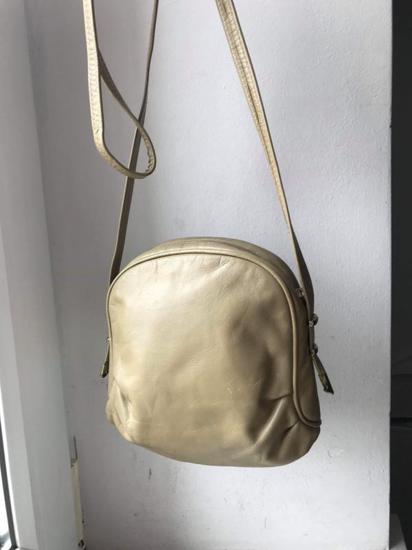 Кожаная сумка кроссбоди - Фото 3