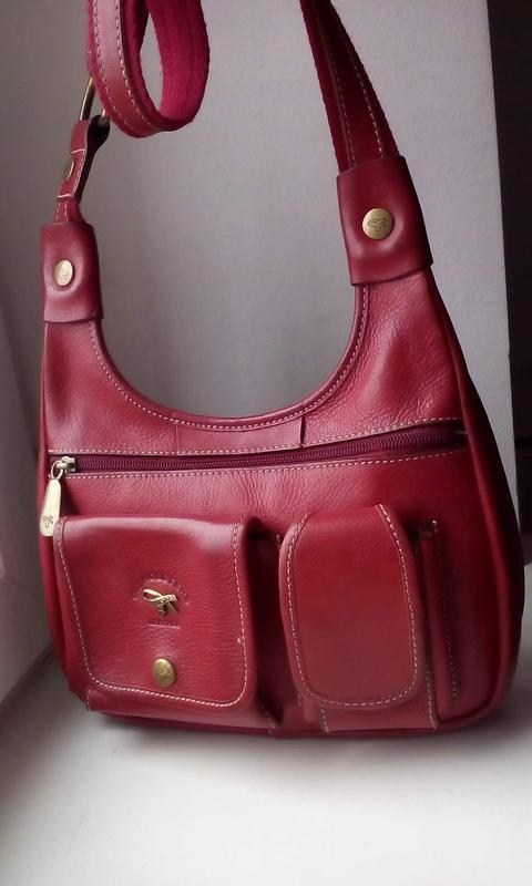 Качественная сумка с длинным ремнем gil holsrers. кожа