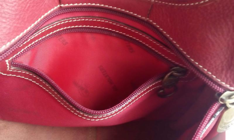 Качественная сумка с длинным ремнем gil holsrers. кожа - Фото 2