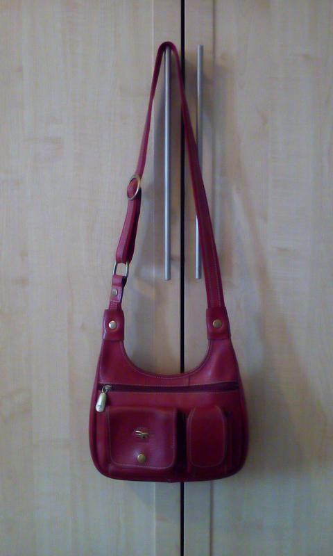 Качественная сумка с длинным ремнем gil holsrers. кожа - Фото 3