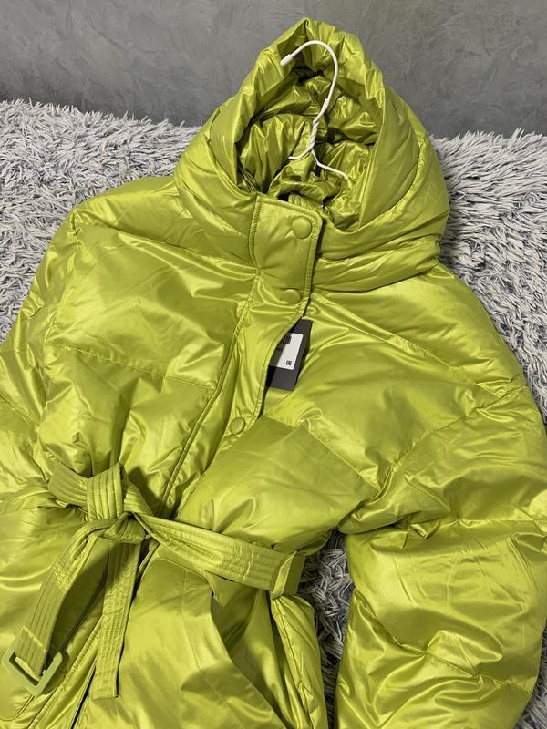 Куртка пуховик оверсайз в стиле ienki ienki - Фото 2