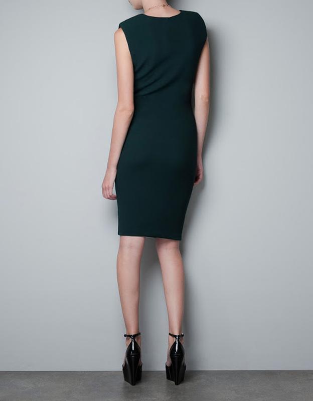 Платье футляр миди женское zara хс с - Фото 3