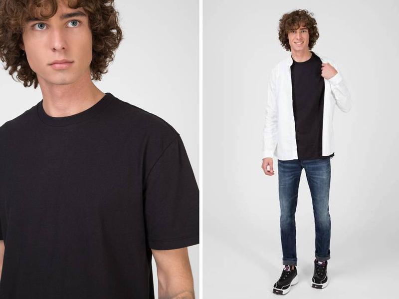 Мужская однотонная футболка - Фото 8