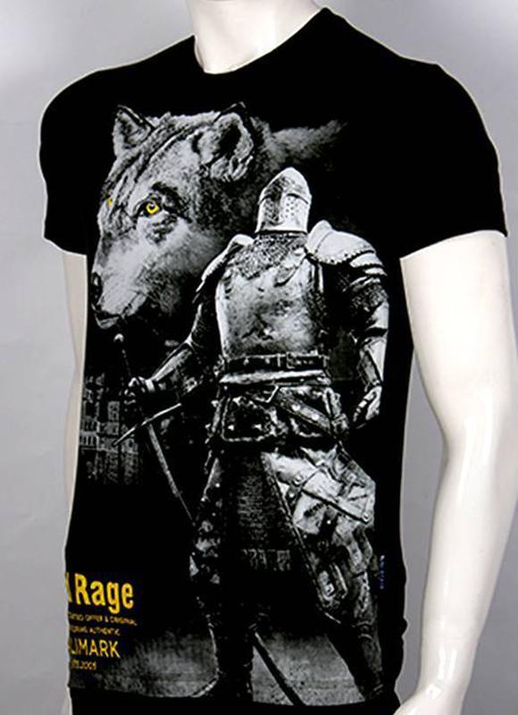 Футболка мужская волк и рыцарь, 3 D - Фото 3