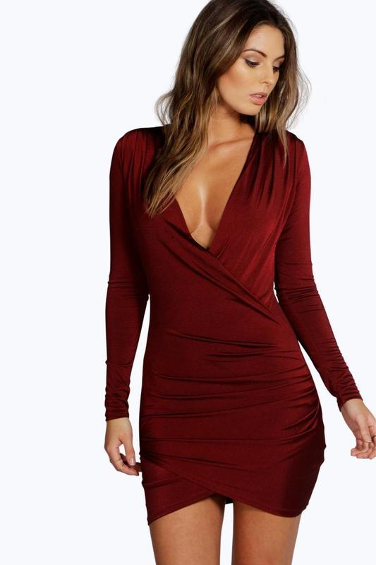 Вечірня сукня  марсалова boohoo,p.eur 40 {p.12}