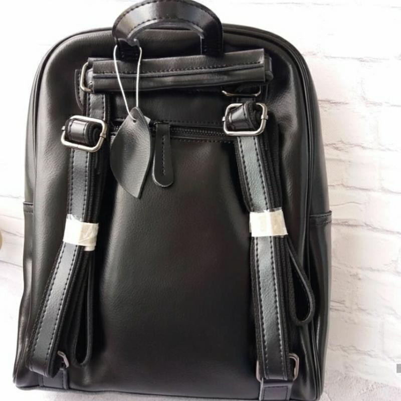 Женский кожаный рюкзак шкіряний портфель сумка -трансформер - Фото 2