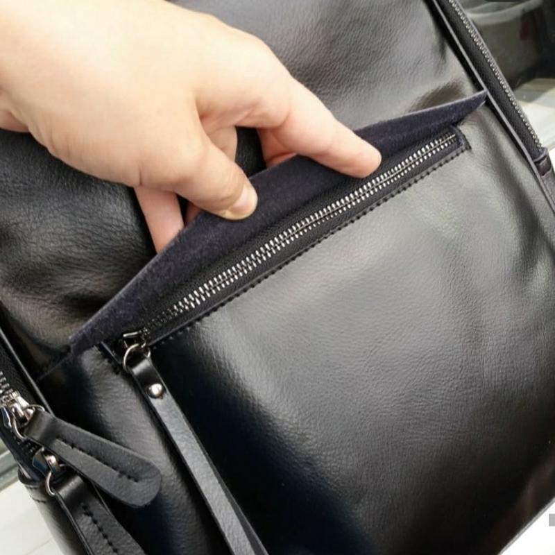 Женский кожаный рюкзак шкіряний портфель сумка -трансформер - Фото 3