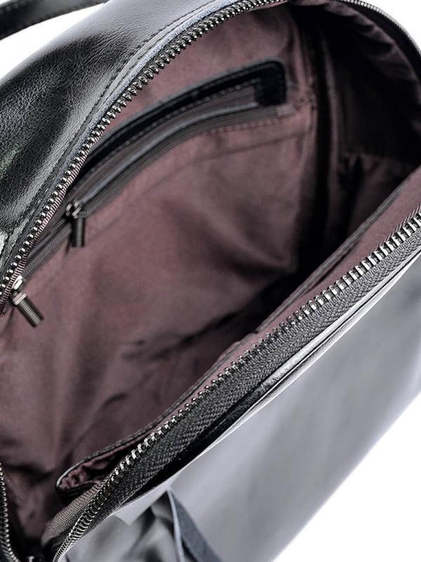 Женский кожаный рюкзак шкіряний портфель сумка -трансформер - Фото 7