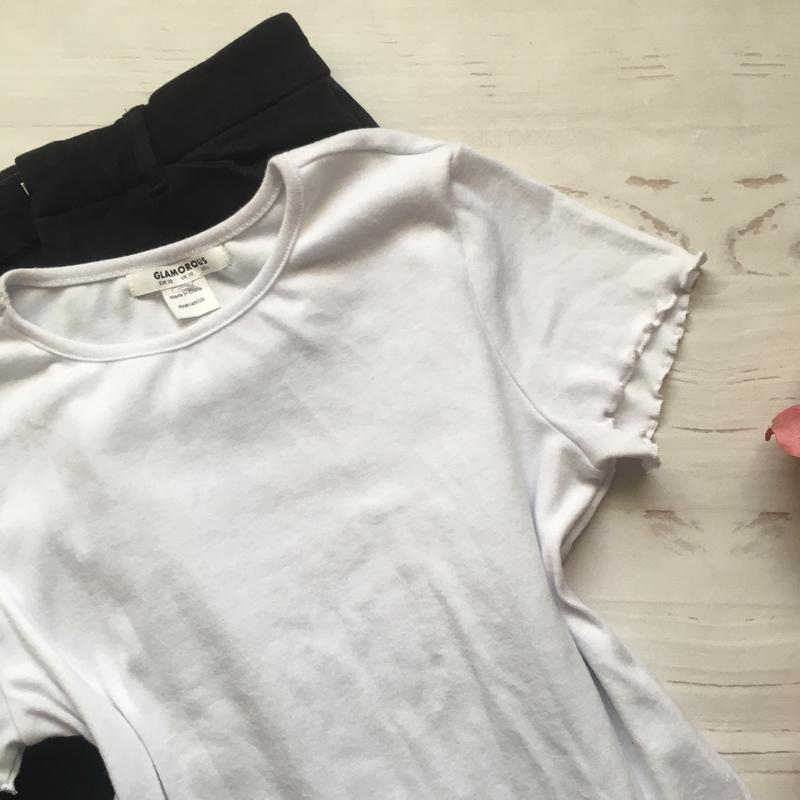 Базовая белая футболка (s/m) - Фото 3
