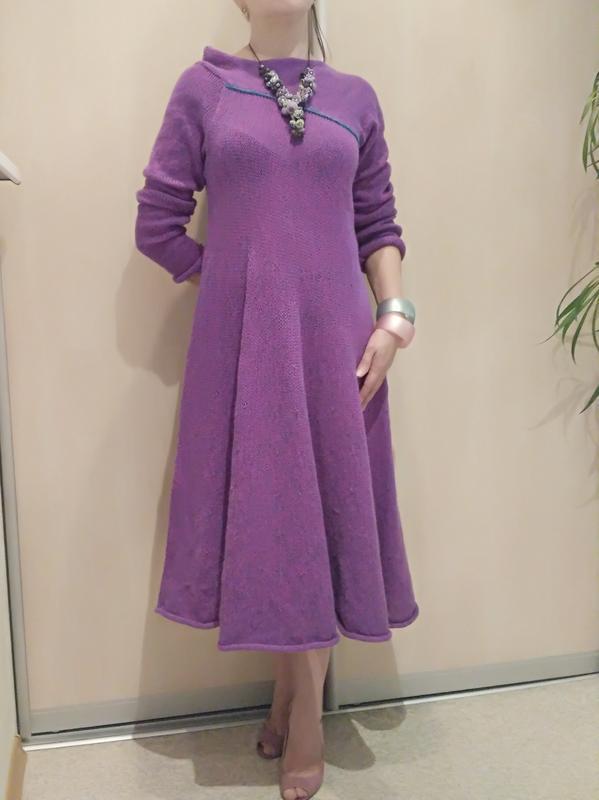 Вязаное платье ручная работа авторская модель