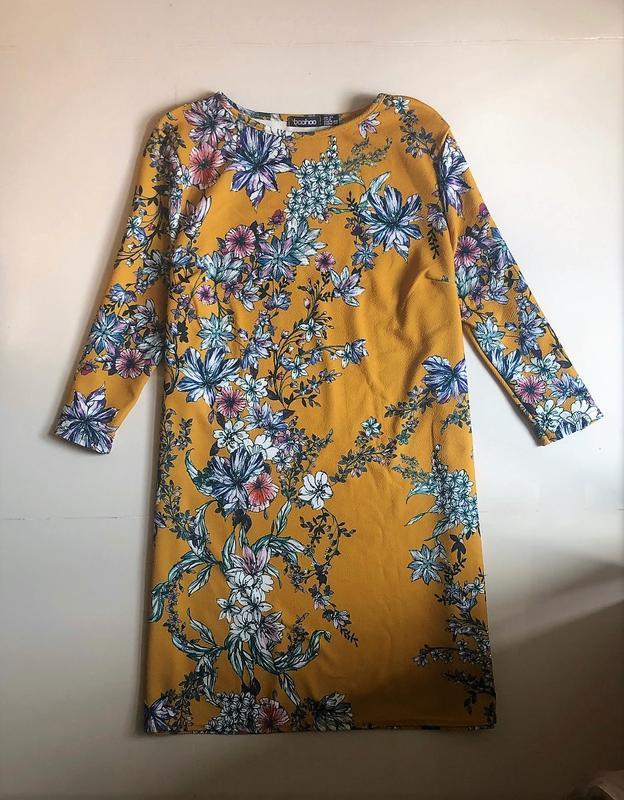 Сукня boohoo  в квітковий прінт, р.eur 40-38 - Фото 2