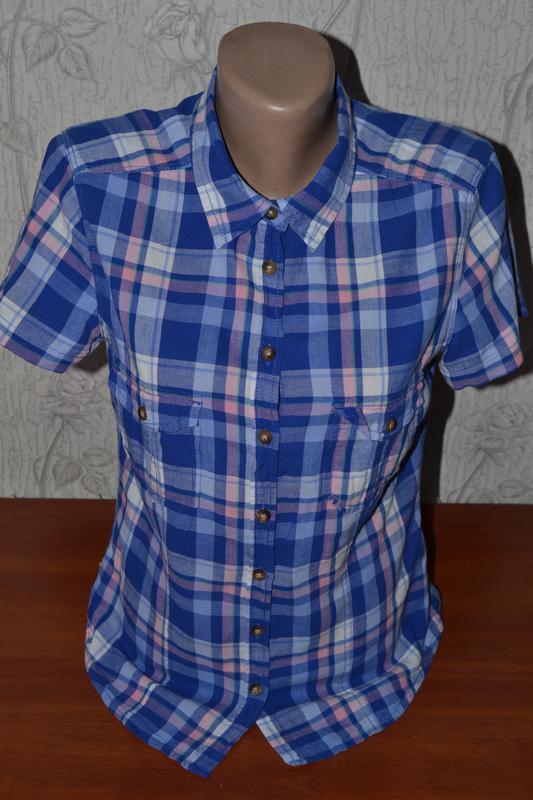 Большой выбор рубашек блузок разных размеров рубашка в клетку - Фото 2