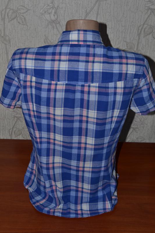 Большой выбор рубашек блузок разных размеров рубашка в клетку - Фото 3