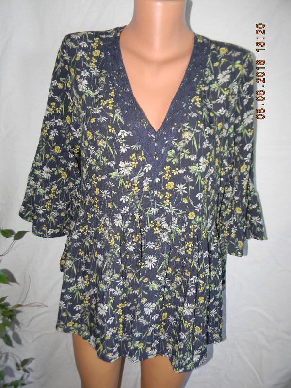 Новая натуральная блуза f&f