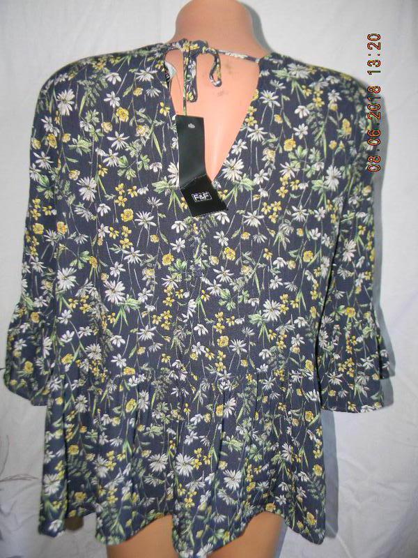 Новая натуральная блуза f&f - Фото 3