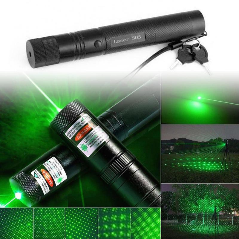 Супер мощная лазерная указка YL Lazer 303 с насадкой зеленый луч
