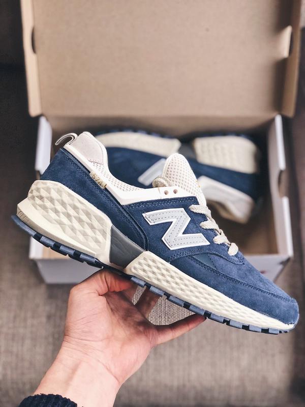 Мужские кроссовки new balance 574 s синие