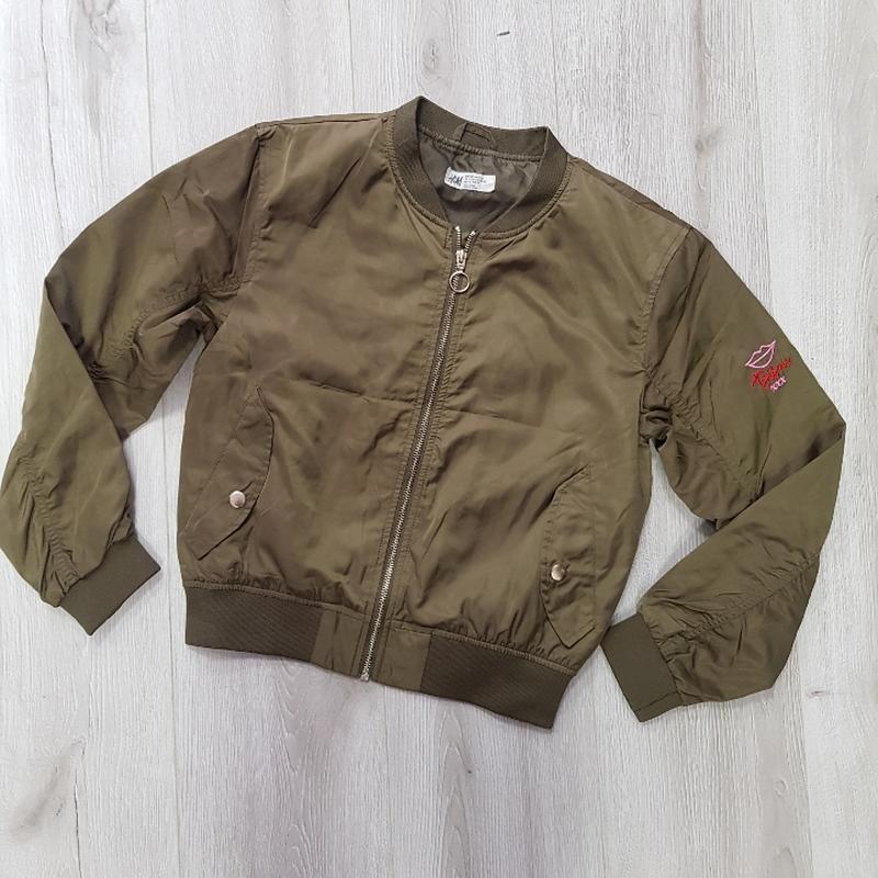 Куртка бомбер на девочку - Фото 3