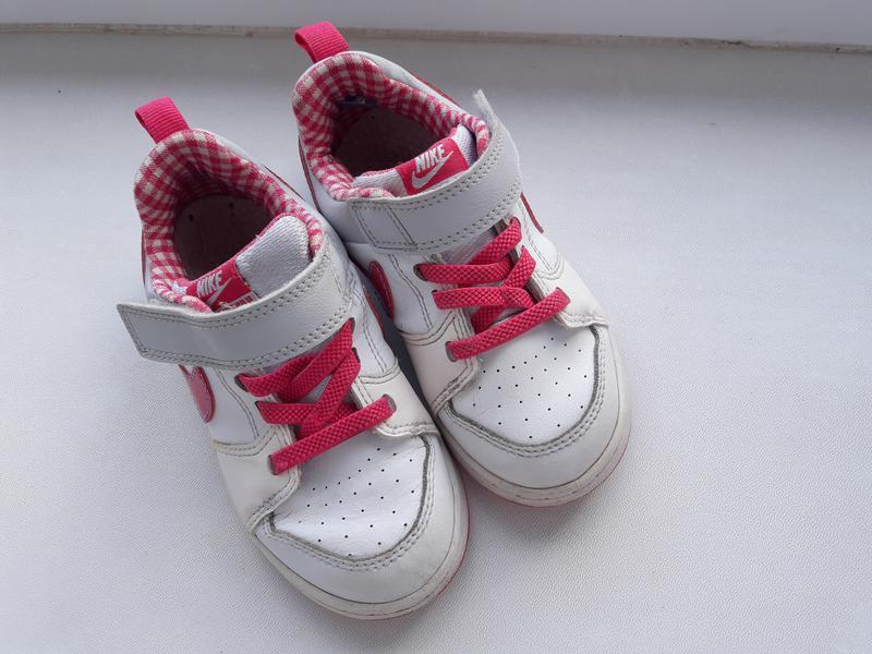 Кожаные кроссовочки nike для девочки 25.5 размер - Фото 2
