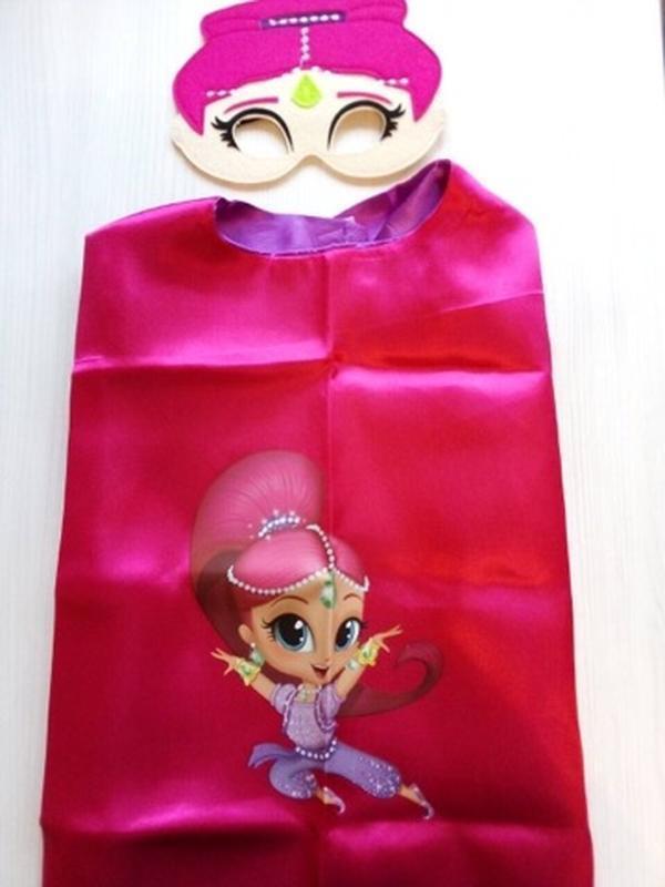 Карнавальный костюм плащ и маска шиммер для девочки