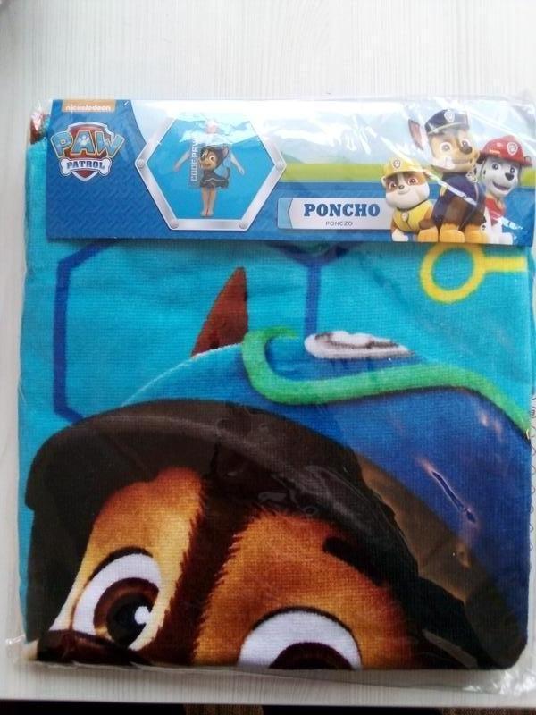 Пляжное полотенце пончо щенячий патруль для мальчика 2-6 лет