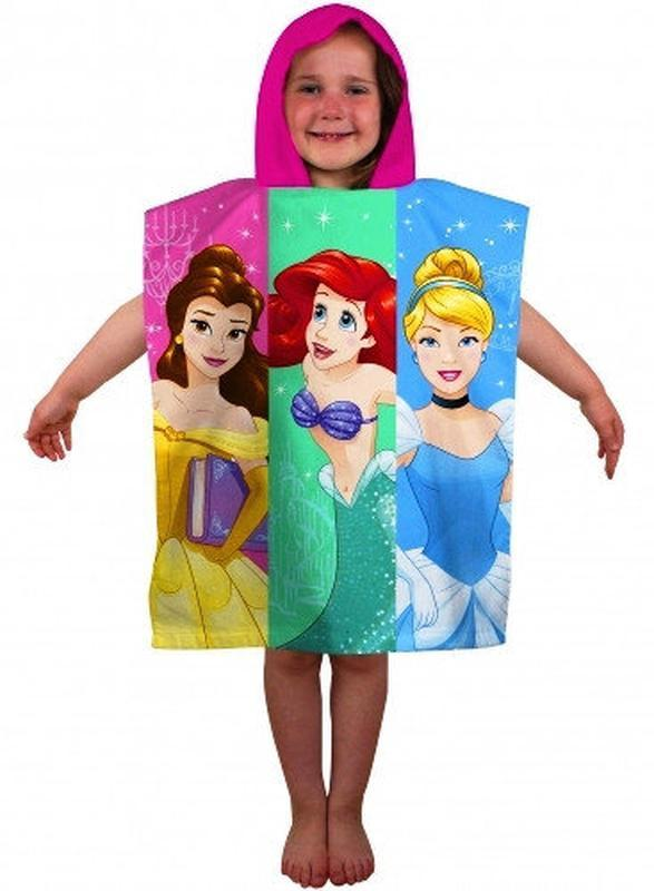 Пляжное полотенце пончо с капюшоном принцессы диснея, для дево... - Фото 2