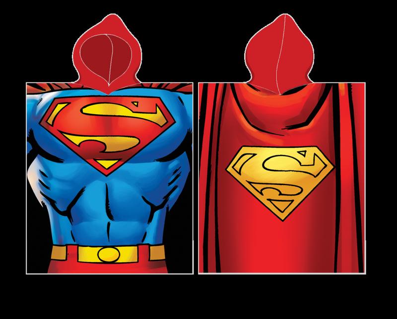 Пляжное полотенце-пончо с капюшоном супермен для мальчика 2-6 лет - Фото 2