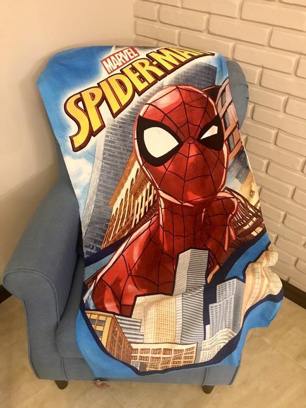 Детское пляжное полотенце спайдермен человек-паук для мальчика...