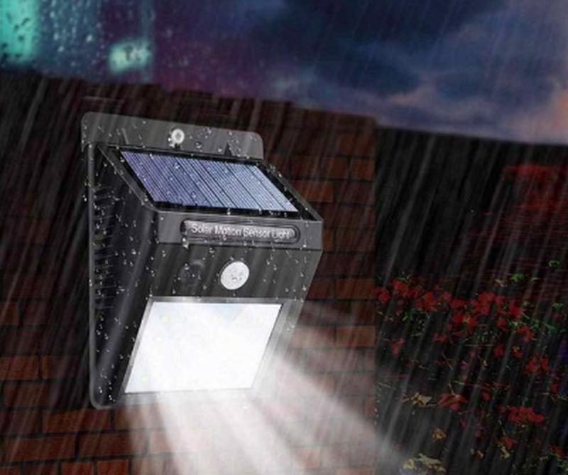 Светодиодный Навесной фонарь с датчиком движения 609 + solar - Фото 9
