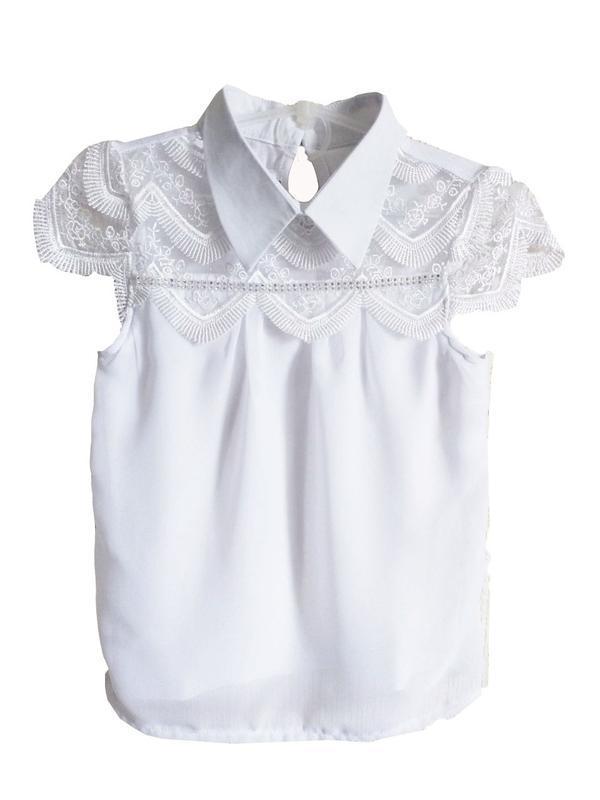 🌼 школьная блузка американка нарядная с кружевом