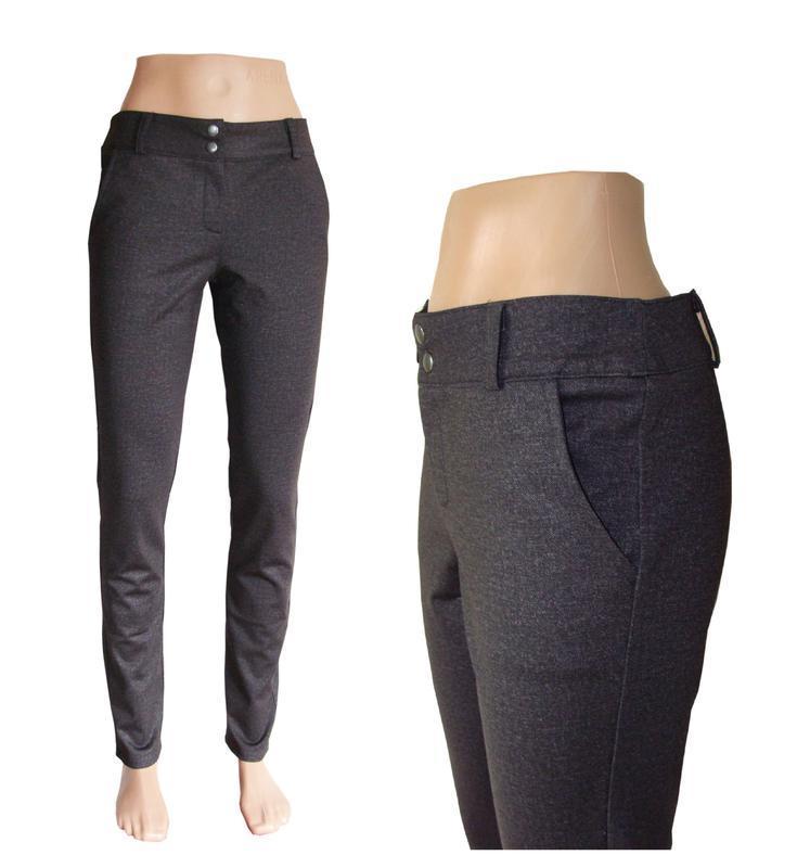 Утеплённые женские брюки стрейчевые. 42-60 р-ры.