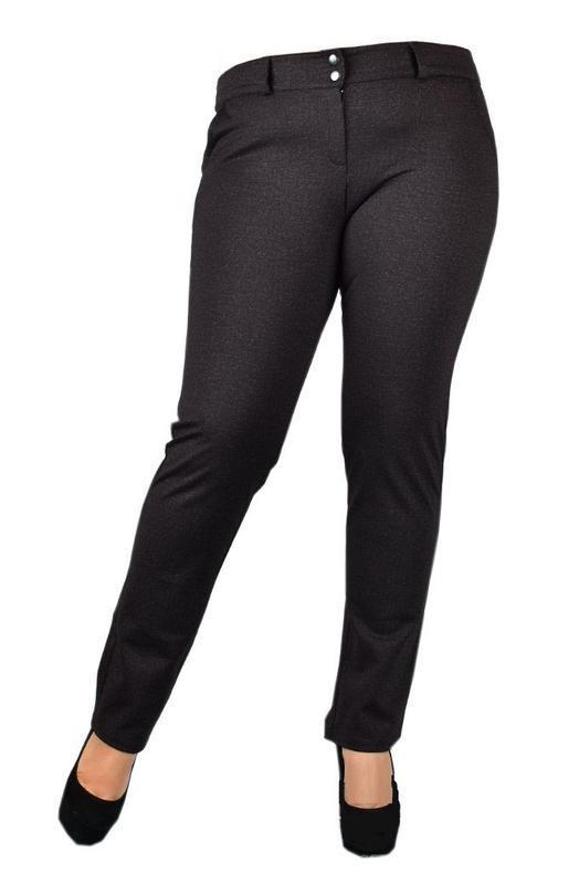 Теплые женские брюки больших размеров. - Фото 2