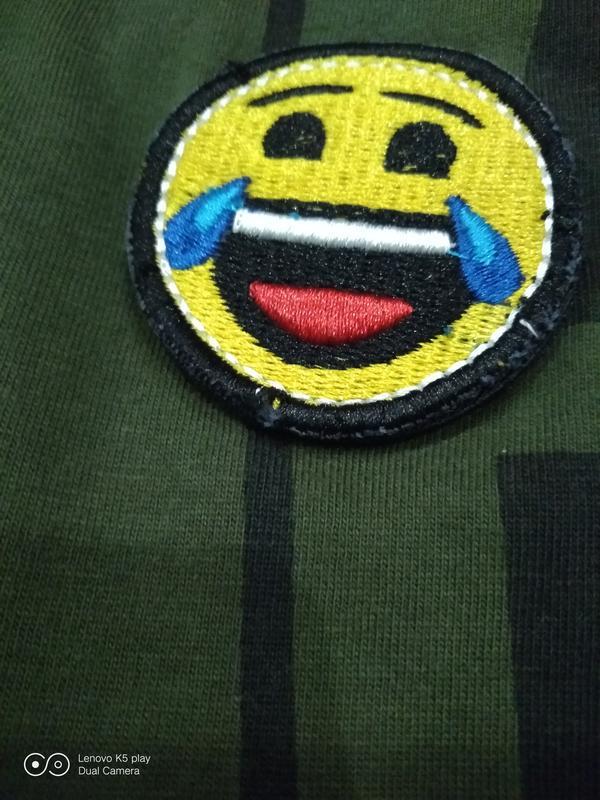 Бомбезная футболка цвета хаки-xxs-xs-s-158-160- emoji- - Фото 4
