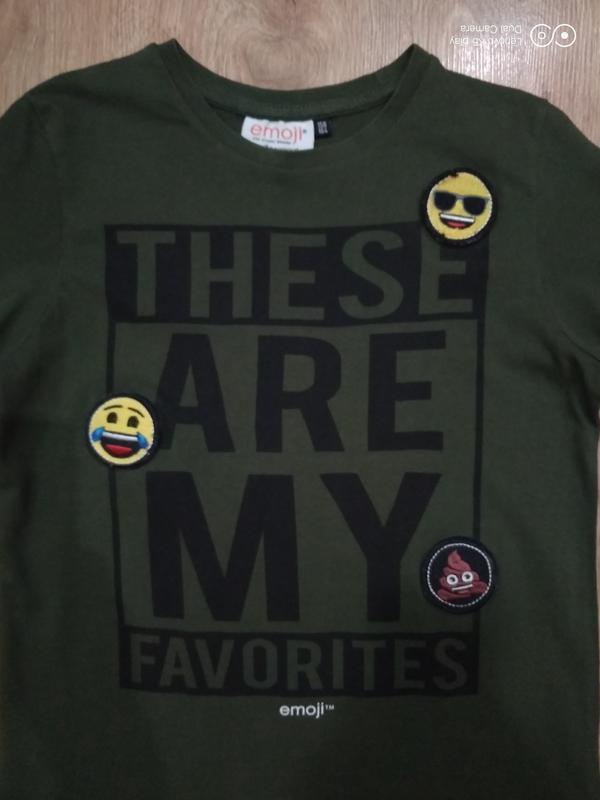 Бомбезная футболка цвета хаки-xxs-xs-s-158-160- emoji- - Фото 8