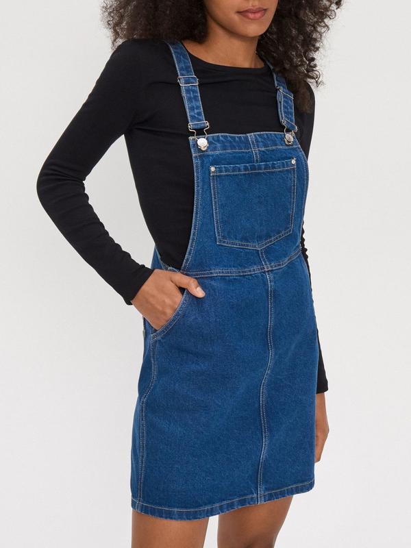 Новый женский джинсовый комбинезон юбка house