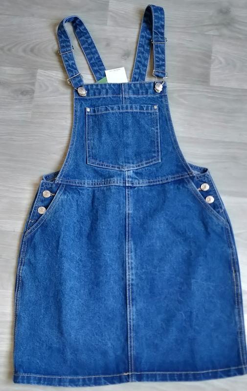 Новый женский джинсовый комбинезон юбка house - Фото 2