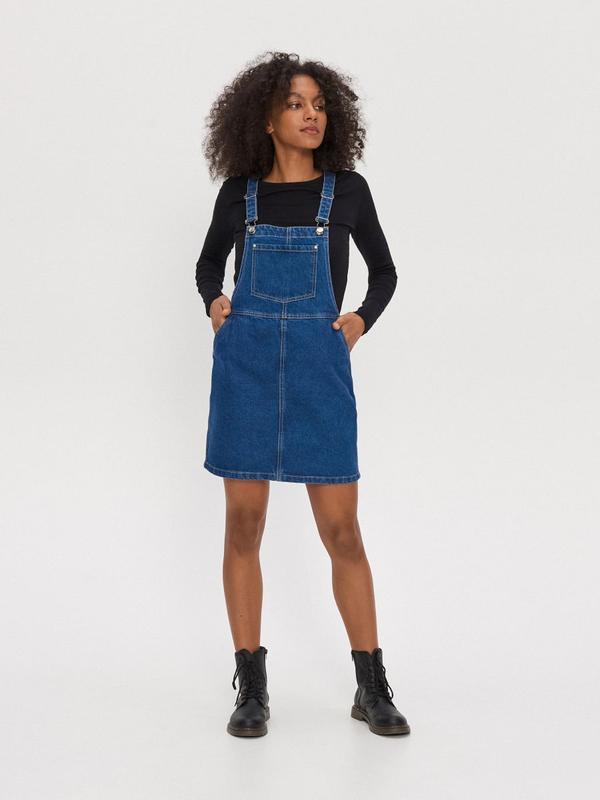 Новый женский джинсовый комбинезон юбка house - Фото 3