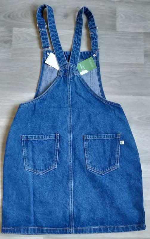 Новый женский джинсовый комбинезон юбка house - Фото 4