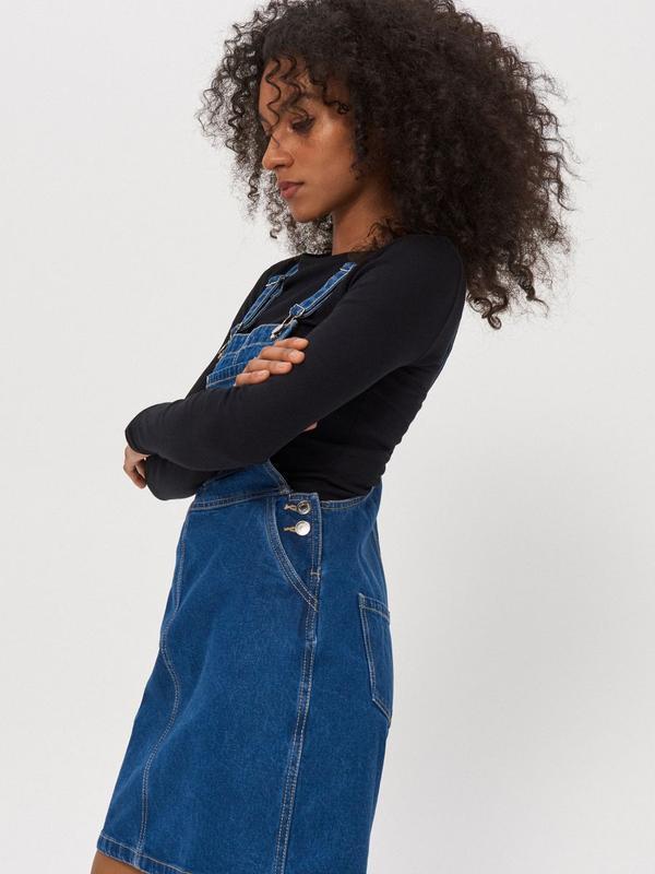 Новый женский джинсовый комбинезон юбка house - Фото 5