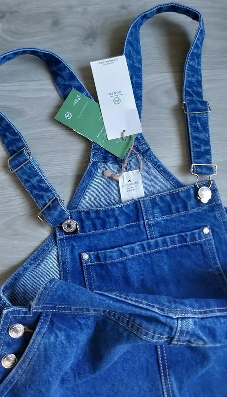 Новый женский джинсовый комбинезон юбка house - Фото 6