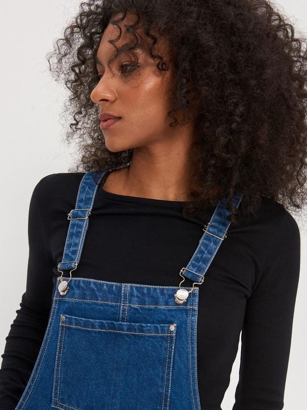Новый женский джинсовый комбинезон юбка house - Фото 7