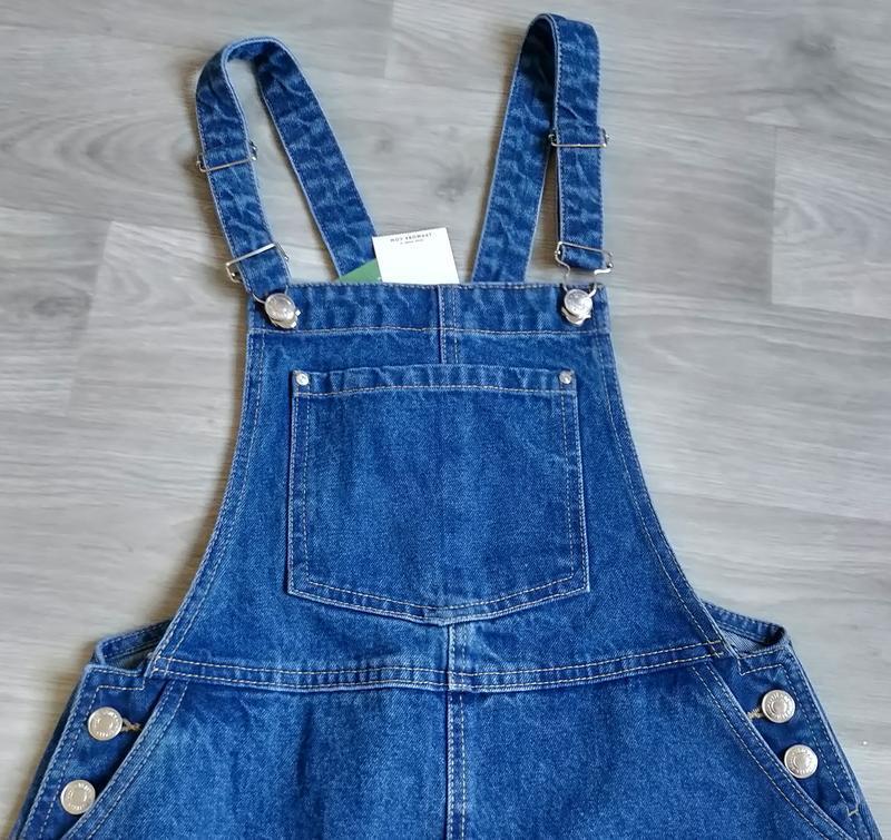 Новый женский джинсовый комбинезон юбка house - Фото 8