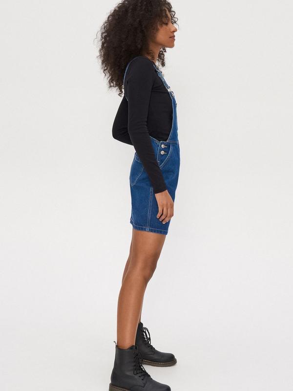 Новый женский джинсовый комбинезон юбка house - Фото 9